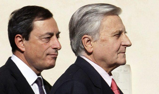 Draghi y Trichet, presente y pasado del BCE