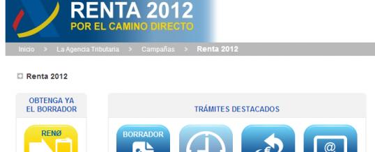CAMPAÑA RENTA 2012: CÓMO OBTENER TU BORRADOR