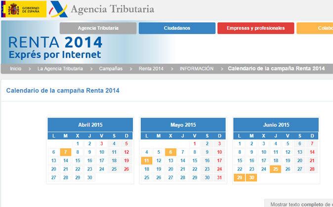 COMIENZA LA CAMPAÑA RENTA 2014 (CALENDARIO FISCAL DE ABRIL)